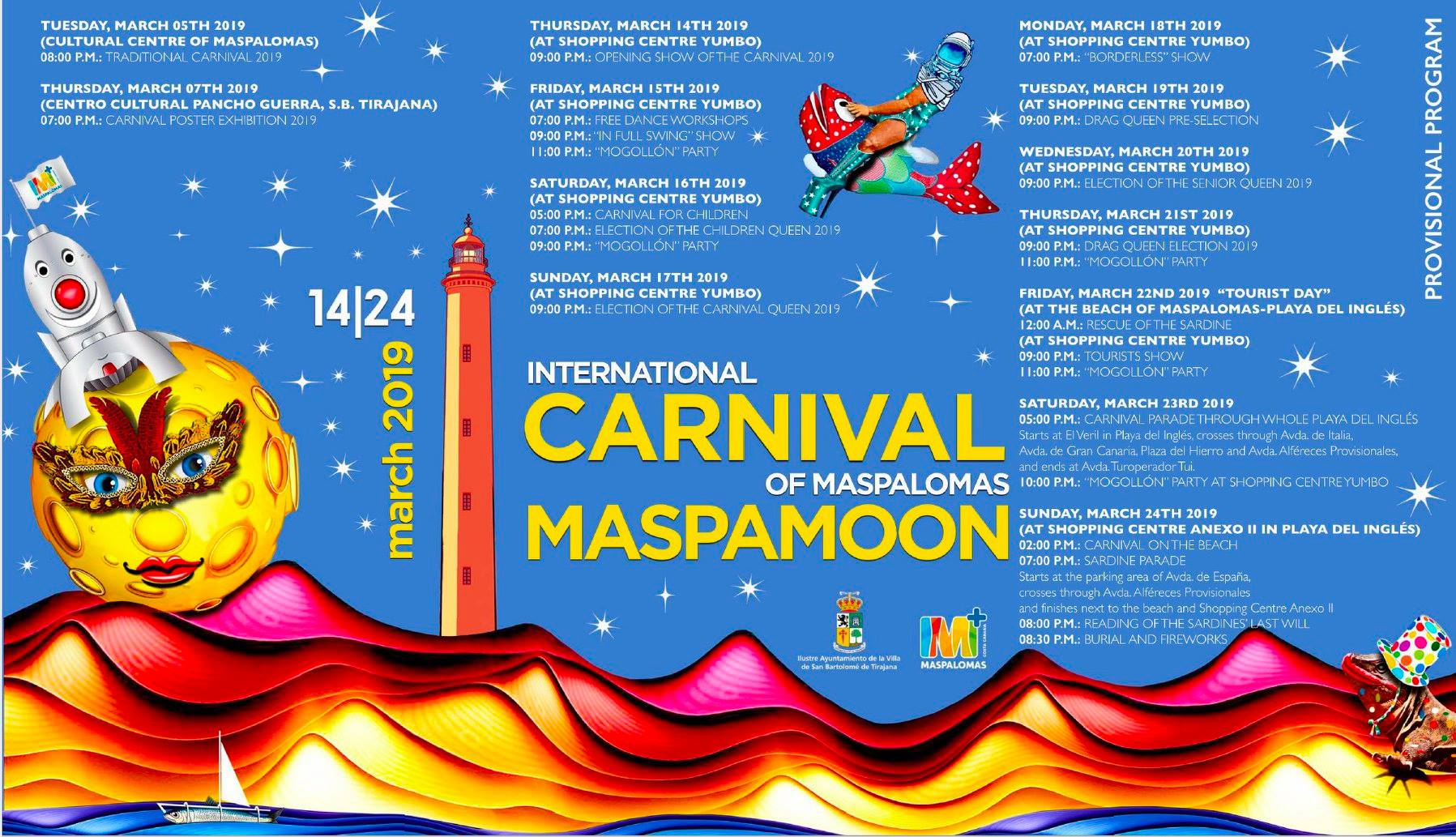 Program Carnival International de Maspalomas 2019